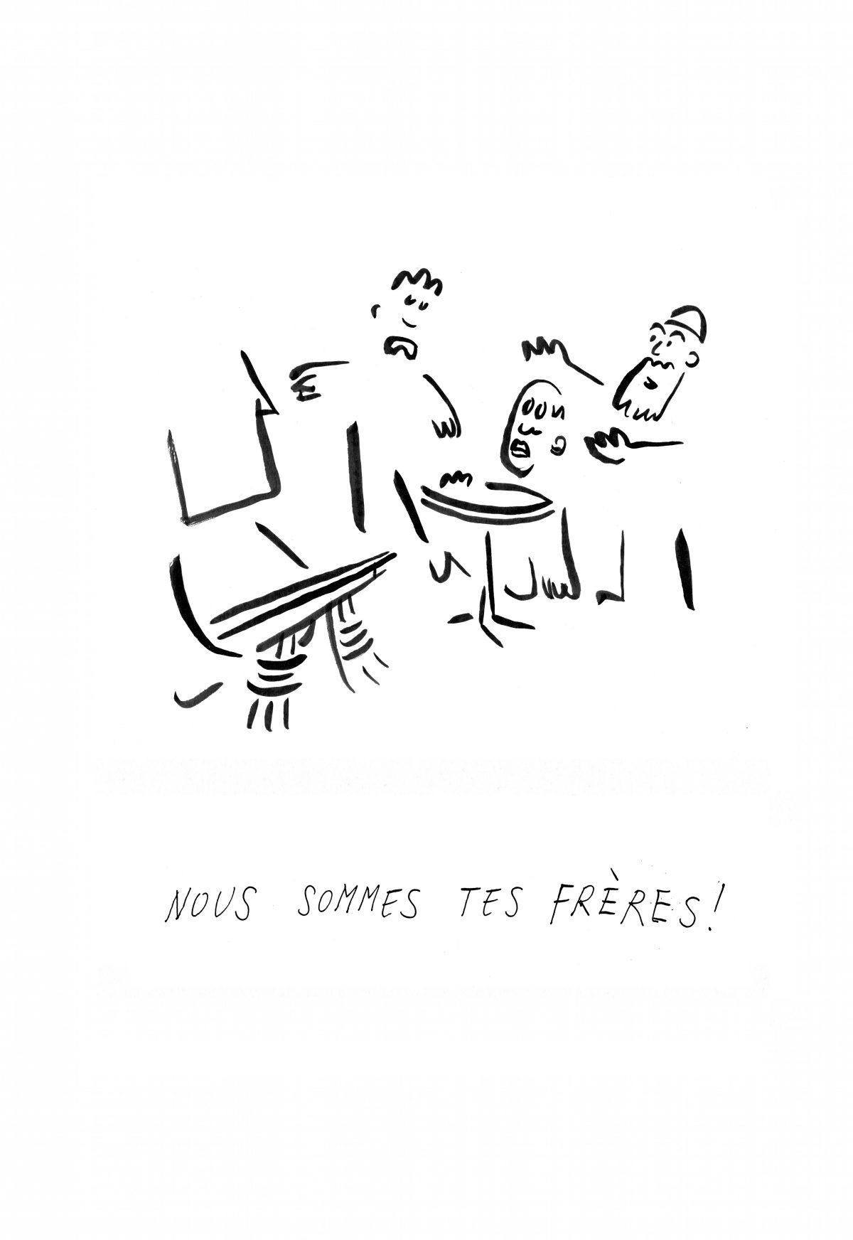 Les dessins d'Adrien Weber, quelques jours après les attentats du 13 novembre